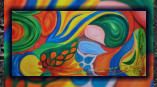 Colorful life • 140x70 cm • oil on canvas • 2012