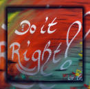Do it right • 50x40 cm• acryl on canvas • 2017